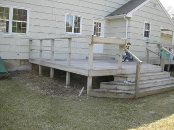 simsbury pressure treated deck